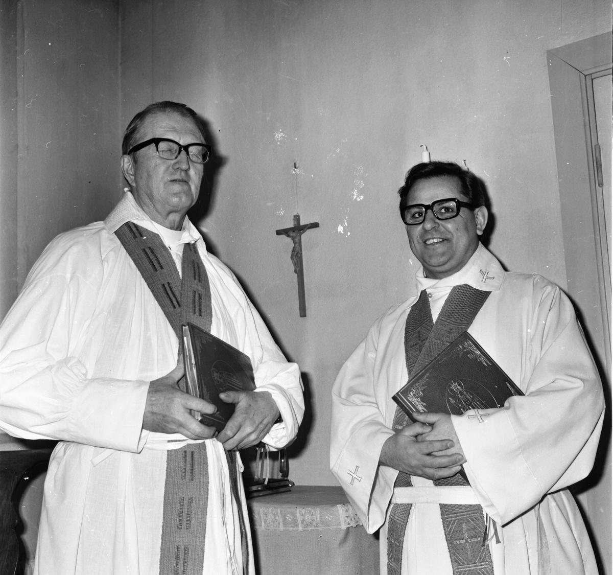 Kyrkoherden hälsas välkommen. Februari 1973