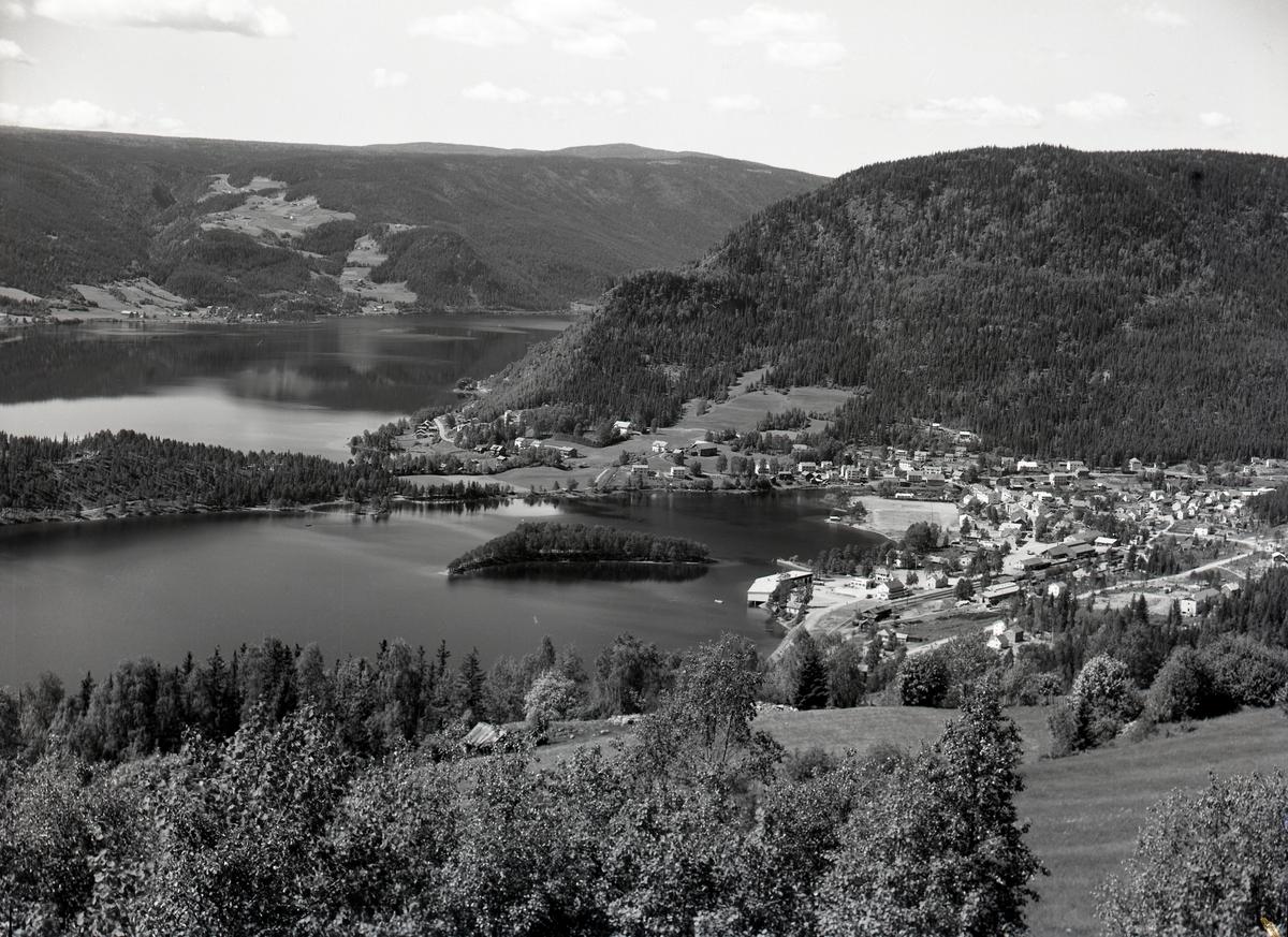Fagernes sentrum tatt fra Ranheimsbygda.