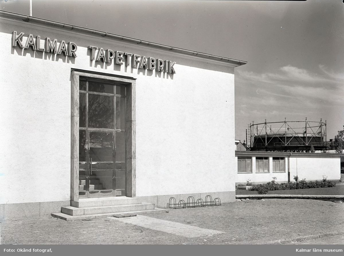Exteriörbild från Kalmar Tapetfabrik.