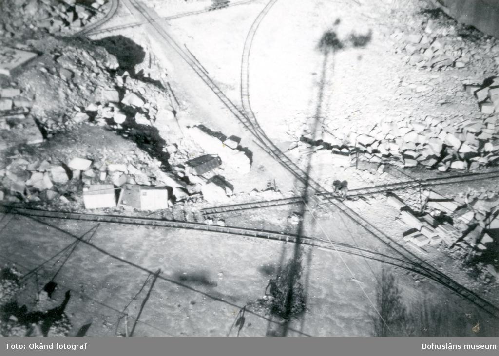 Flygfoto över stenhuggeriet på Rixö