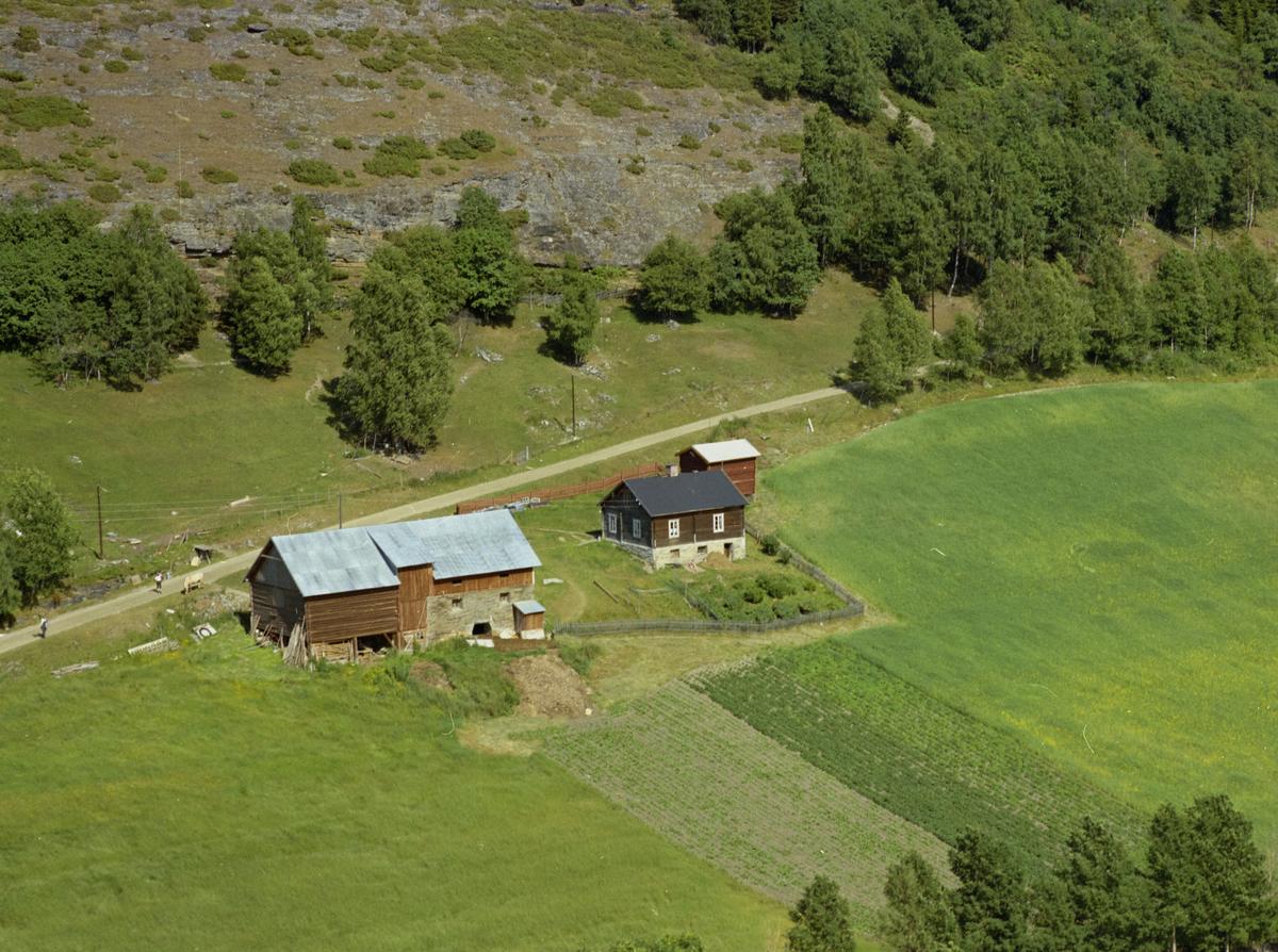 Sør-Fron, Hundorp, Midtre Øverbygda. Gården Kleppen eller Kleppen søre. Kjøkkenhage,  bygdeveg bak, dyrket mark og løvskog.