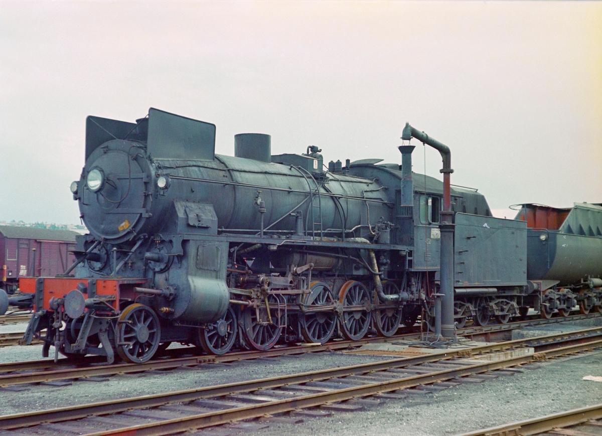 Damplokomotiv type 31b nr. 452 på driftsbanegården ved Marienborg ved Trondheim.
