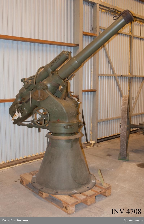 Eldröret tillverkat år 1900. Med konlavett.