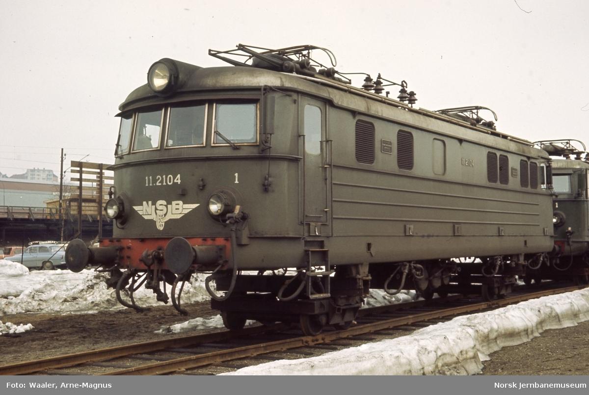 Lokomotivkassen til elektrisk lokomotiv El 11 2104 - venter på hovedrevisjon på Verkstedet Grorud