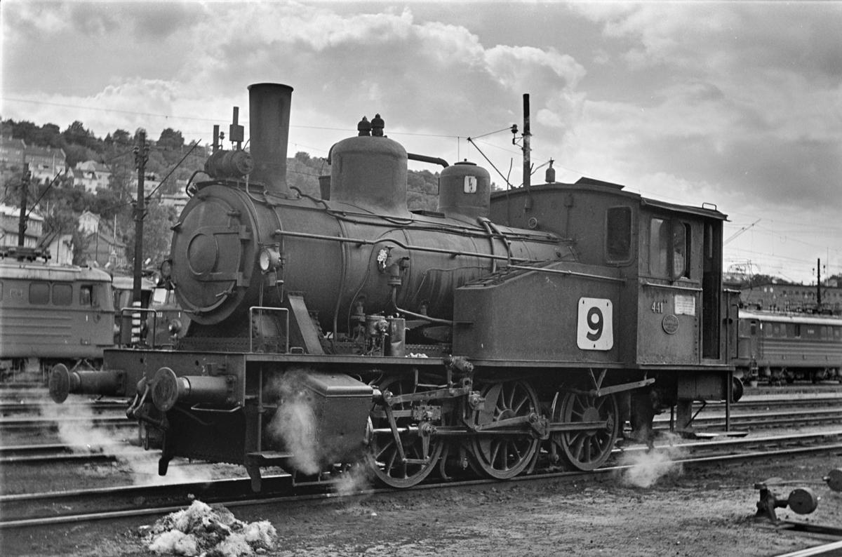 Damplokomotiv type 23b nr. 441 i Lodalen. i Oslo.