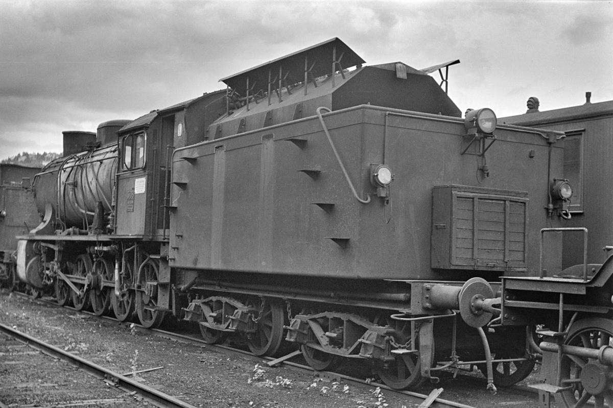 Damplokomotiv type 39a nr. 308, hensatt i Lodalen. i Oslo.