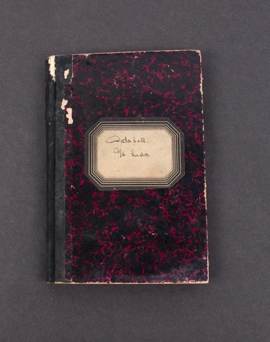Databok for DS LEDA tilhørende Theodor Leif Bessesen ansatt i Det Bergenske Dampskibsselskab.