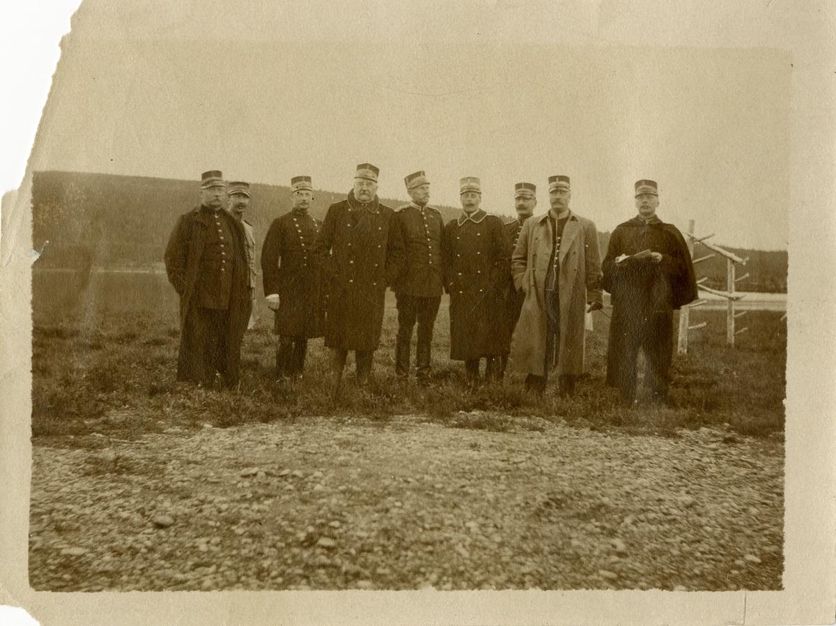 Officerare vid Hälsinge regemente I 14 på Mohed.