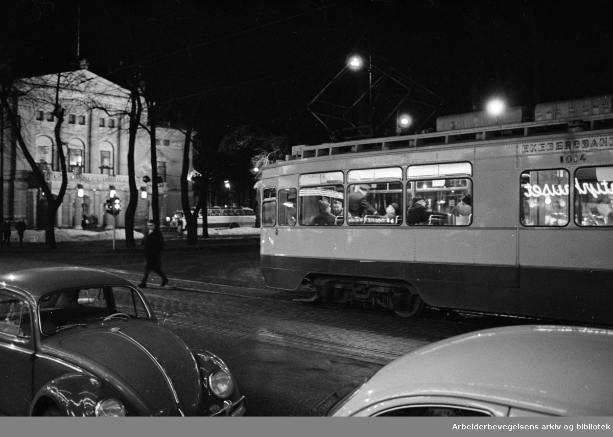 Stortingsgata. Ekebergbanen. Mars 1969