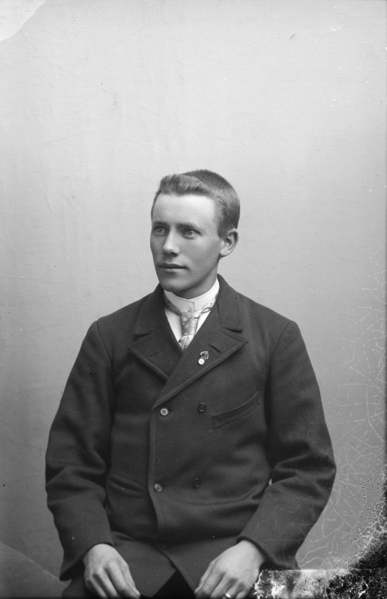 Portrett av Ole E. Hagen, Landhandler, gårdbruker og poståpner på Tøftebakken, Kvikne i Nord-Fron.