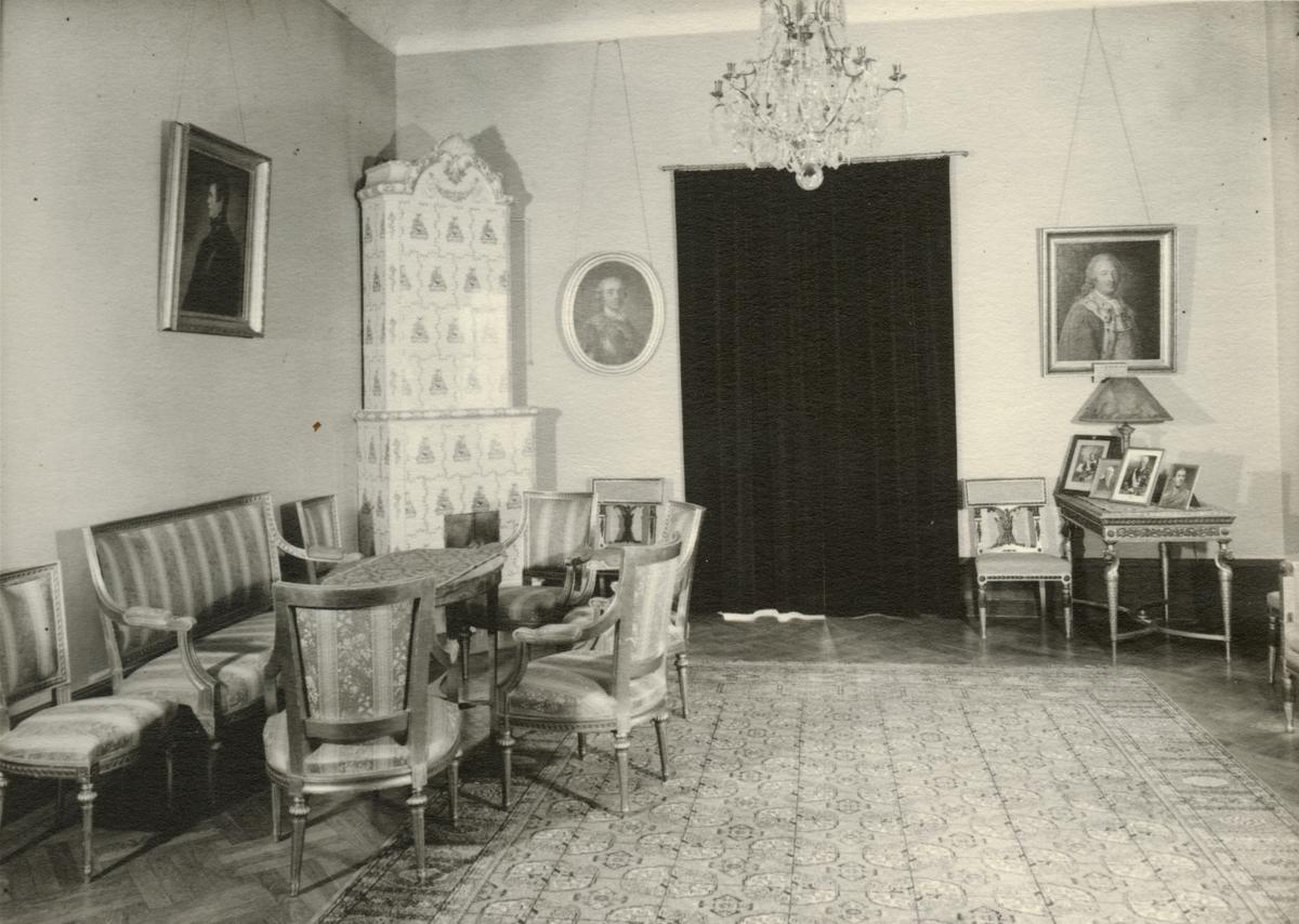 Salongen i officersmässen, Svea artilleriregemente A 1, våren 1947.