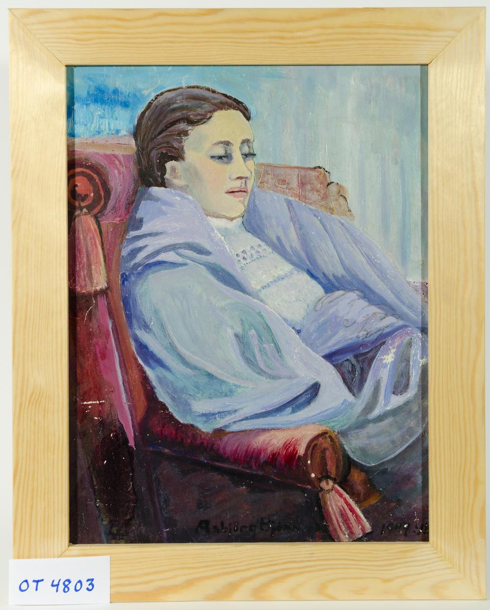 Kunsterens mor, malt mens hun var sjuk. Moren døde seinere.