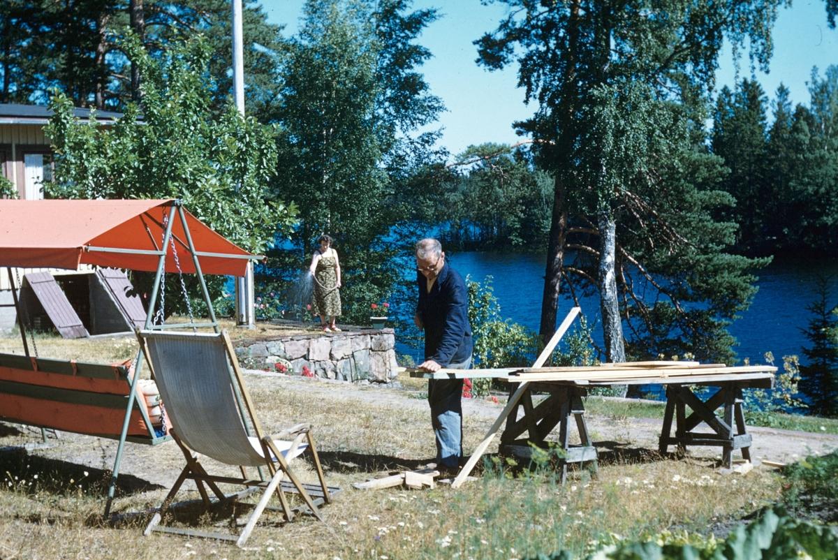 Sommarstuga vid sjön Trösken.