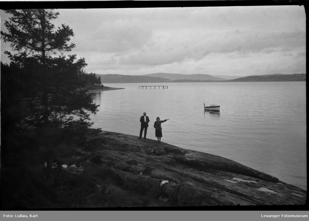 Kystlandskap utsikt fra Ekne mot Ytterøya.