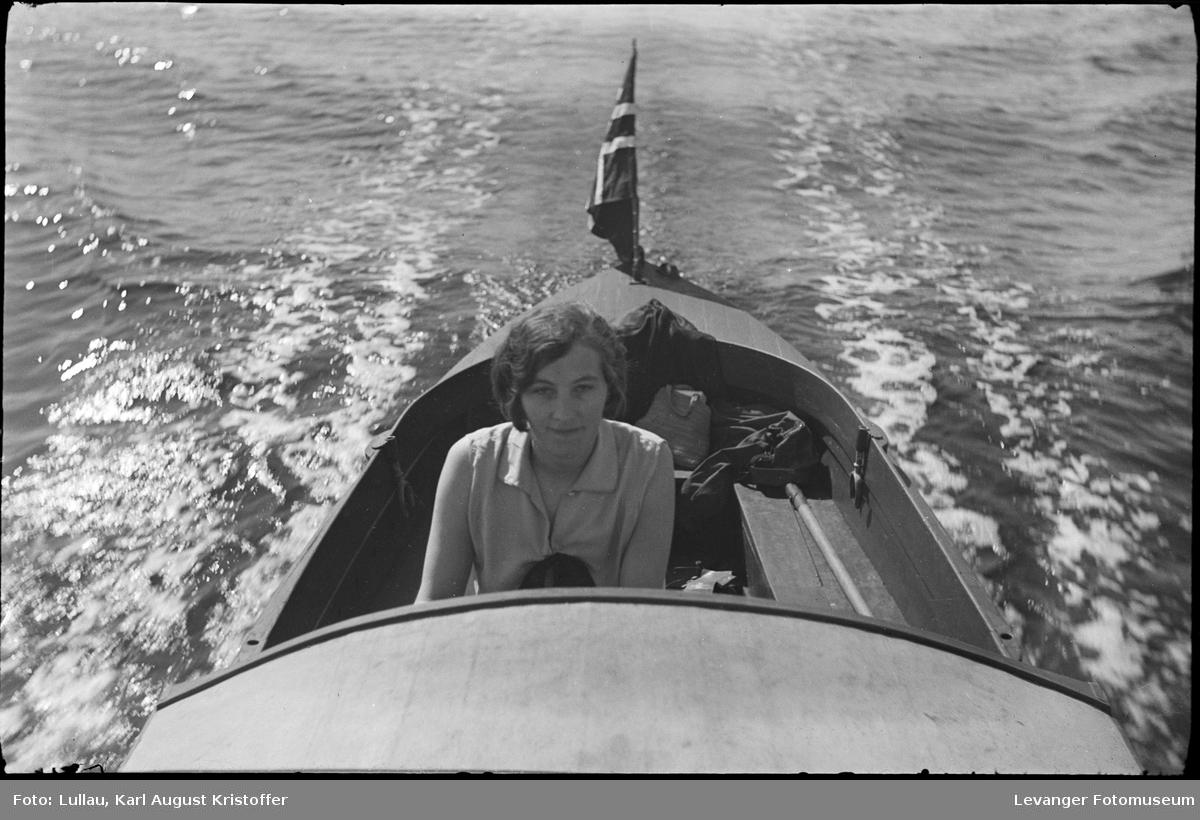 På båttur med båten til Karl Lullau