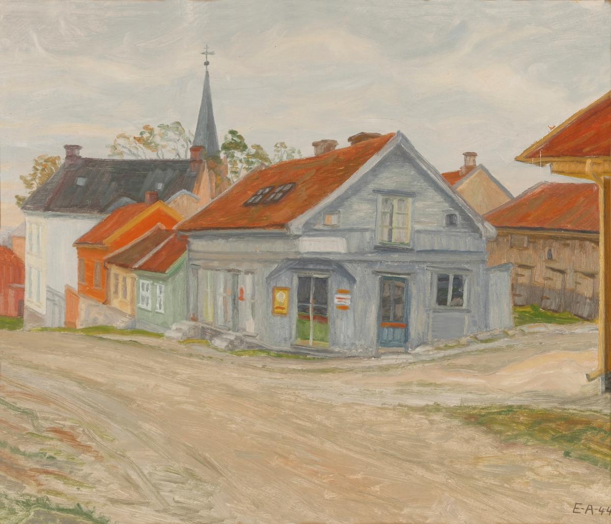 Hjørnet av Berggaten og Fjellgaten. Bymotiv