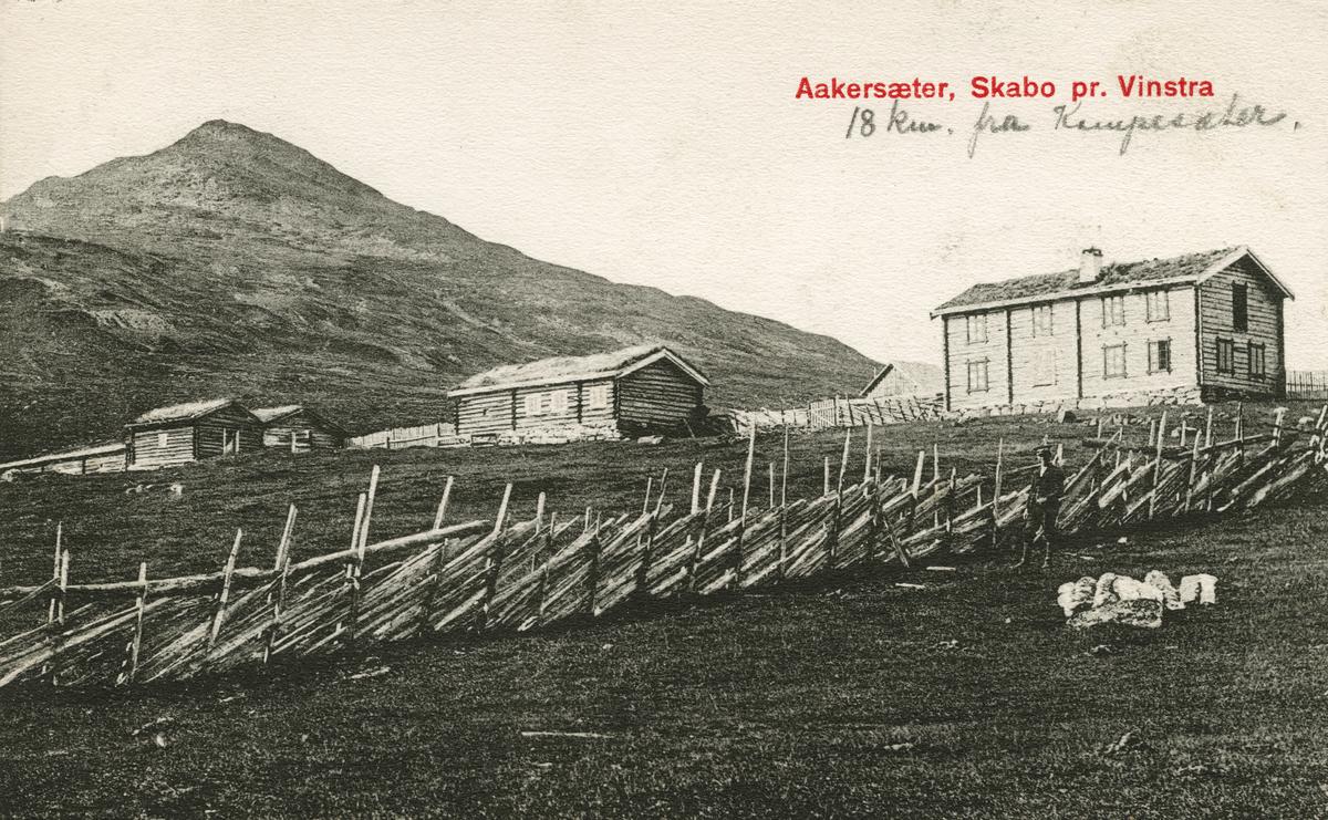 Postkort:  Åkresætra i Skåbu