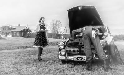 Elverum fotoklubb har latt seg inspirere av Vidar Sandbeck og laget utstilling, blant annet visa Bildilla.