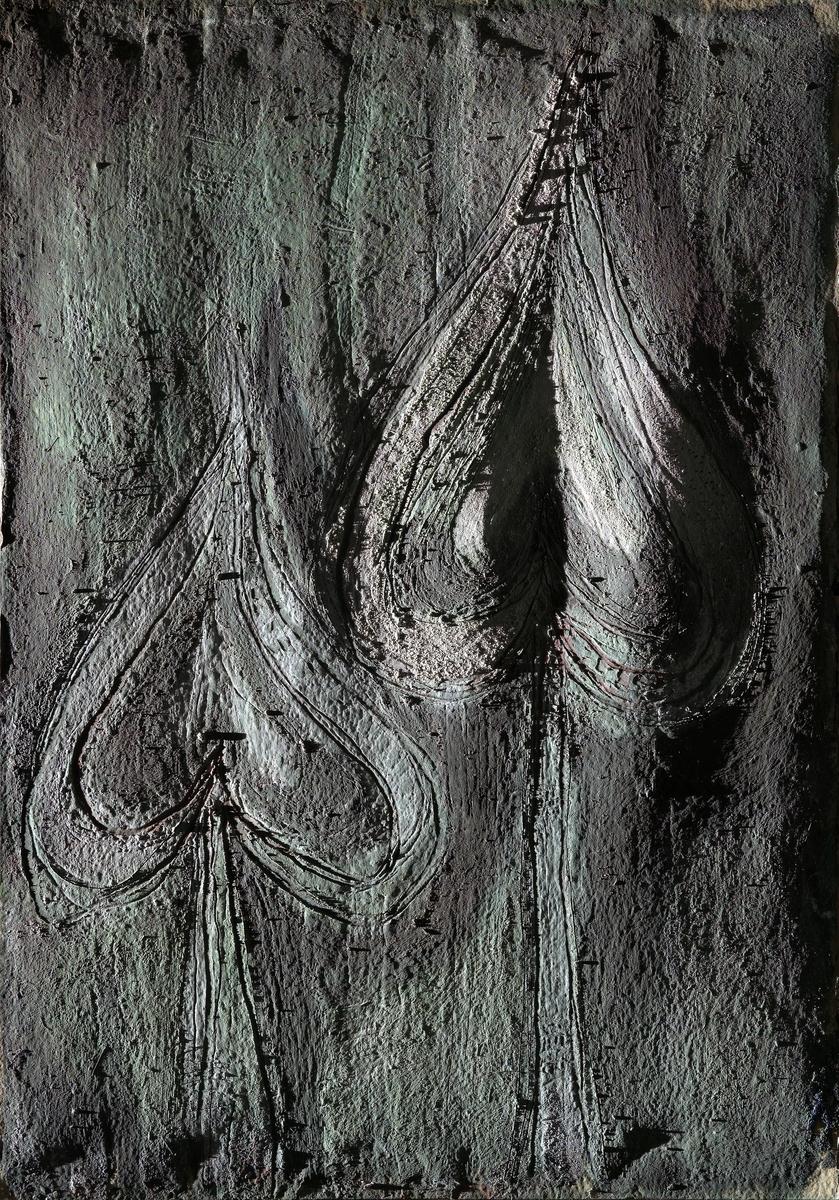 Liljer eller blader [Maleri]