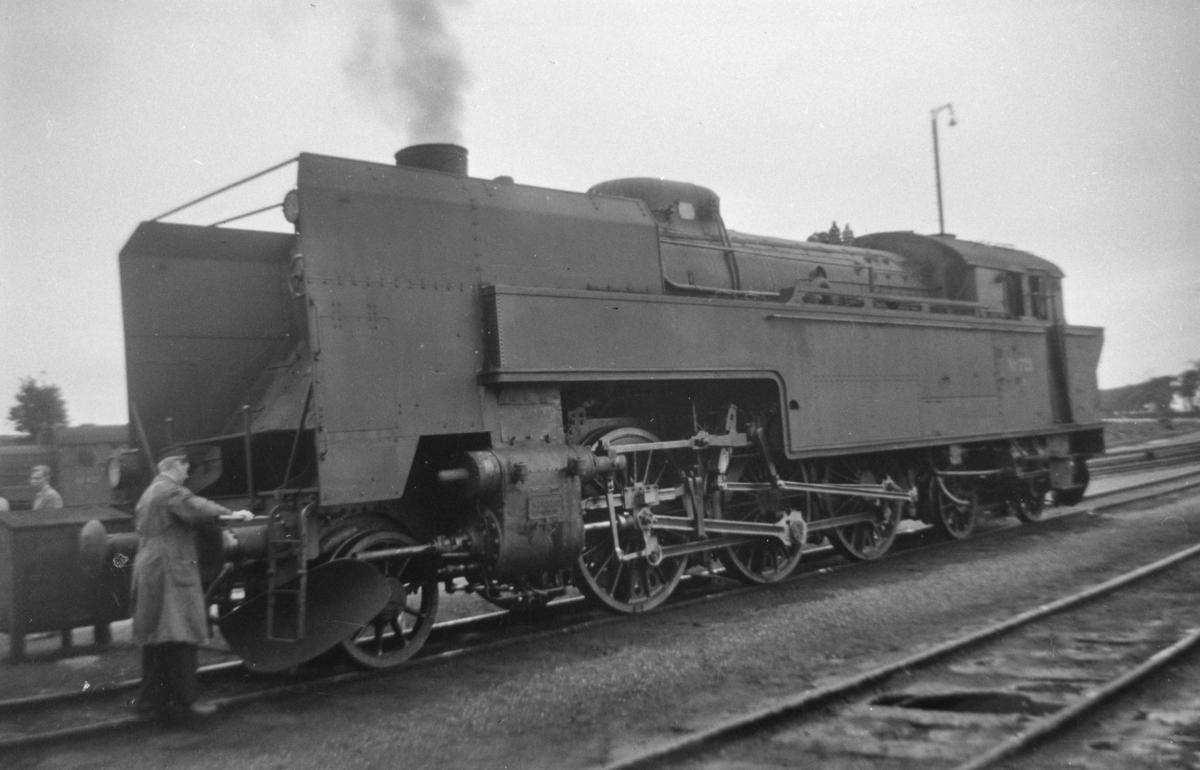 Dansk damplokomotiv type S nr. 723 ved København Østerport.