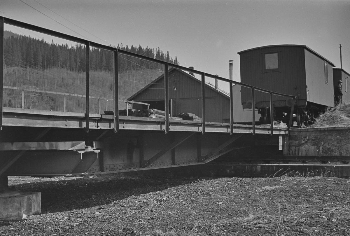 Svingskiven på Gudå stasjon på Meråkerbanen