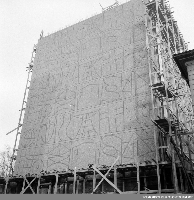 Regjeringsbygningen. Januar 1957
