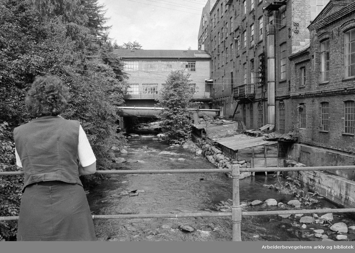 Nydalen: Fra Nydalens Compagnie. Den eldste fabrikken ved Akerselva. Juli 1973