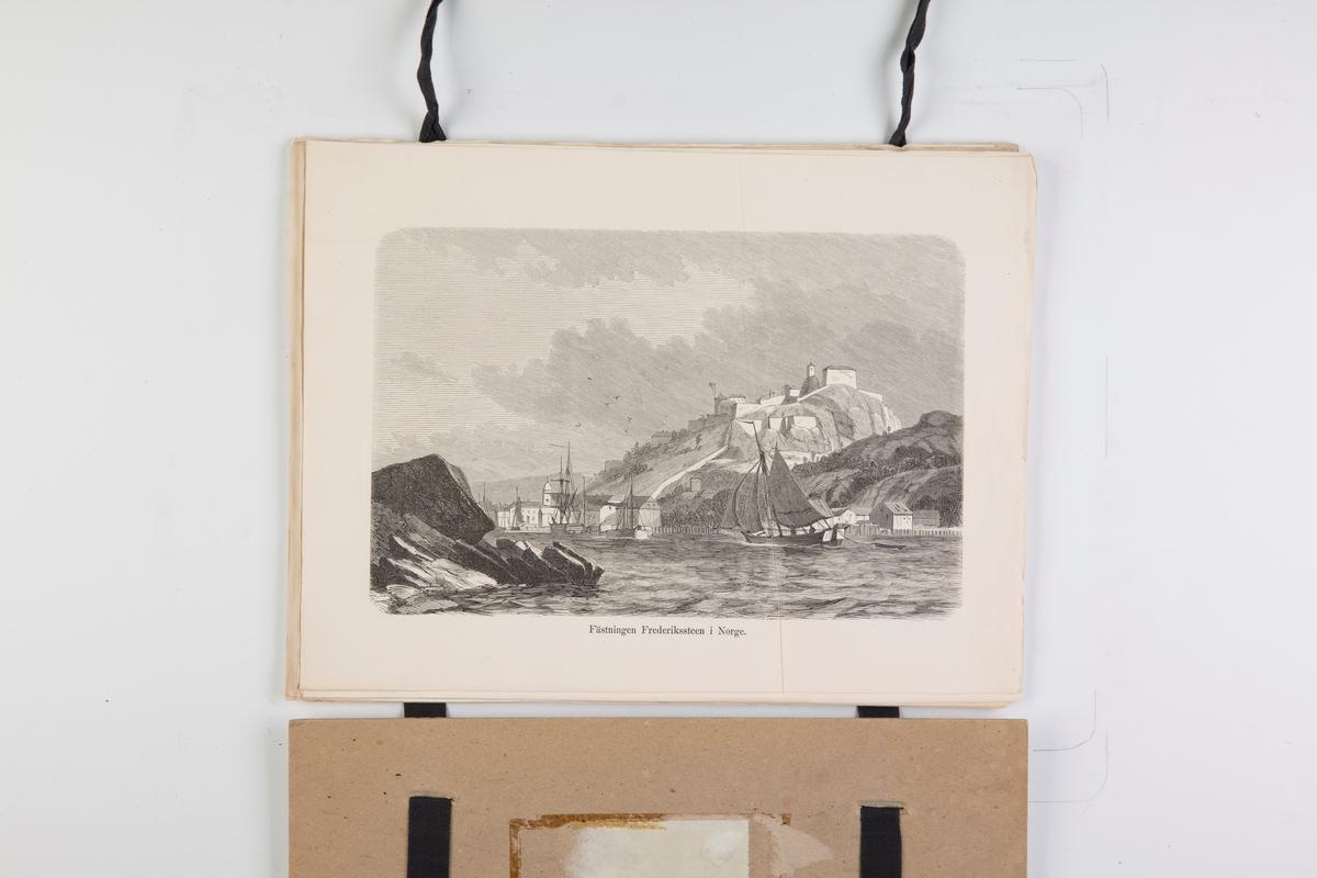 """12 landskapsprospekter fra serien """"Prospekter fra Norge, Sverige og Danmark, Kbh. 1858"""