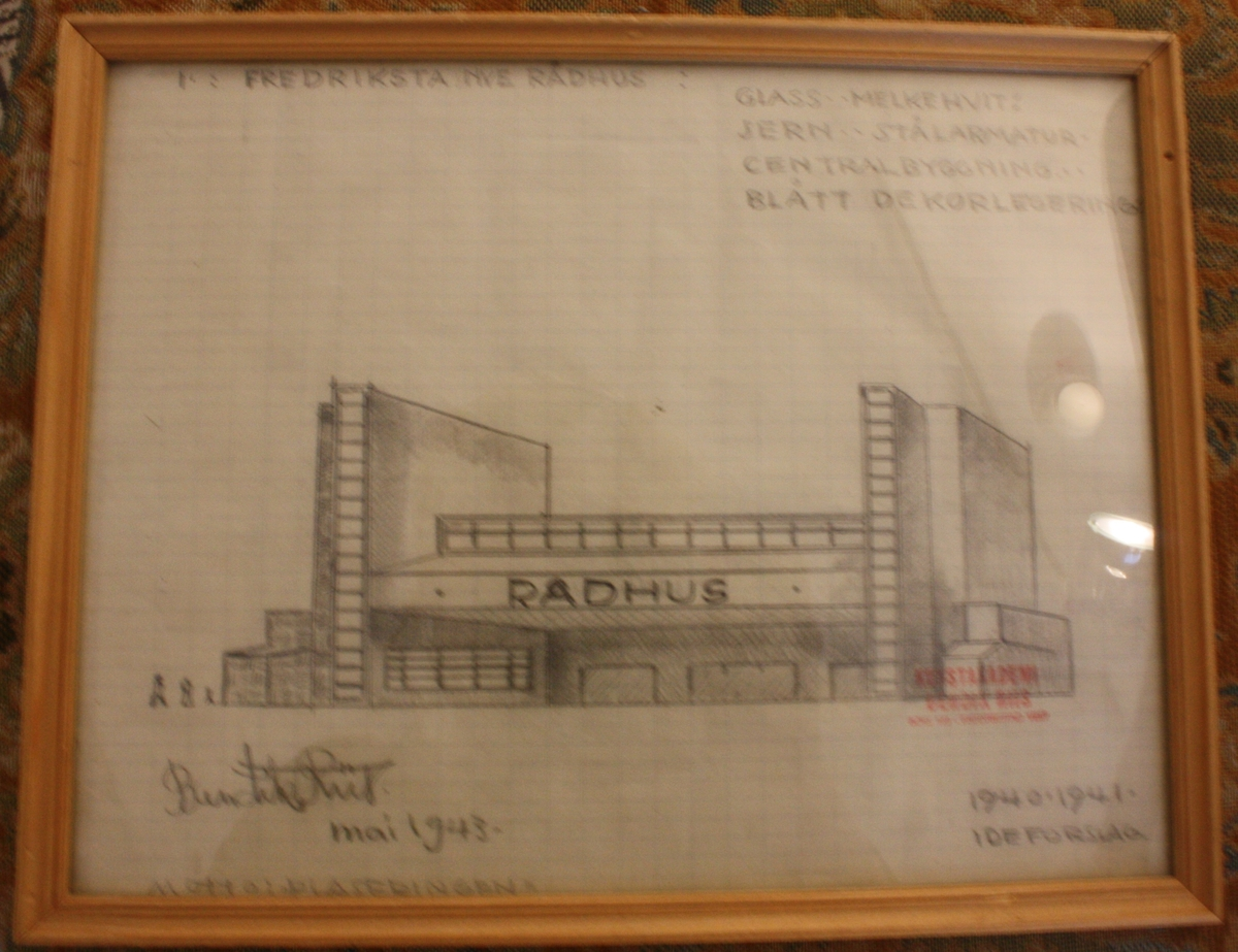 Fredrikstad Rådhus [Tegning]