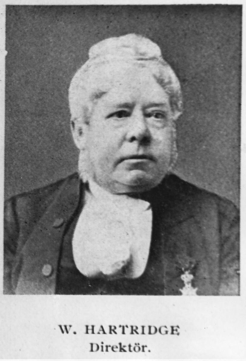 W. Hartridge, direktör vid Köping - Hults Järnväg, KHJ.