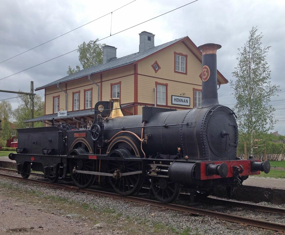 "Ånglok SJ B 3, ""Prins August""."