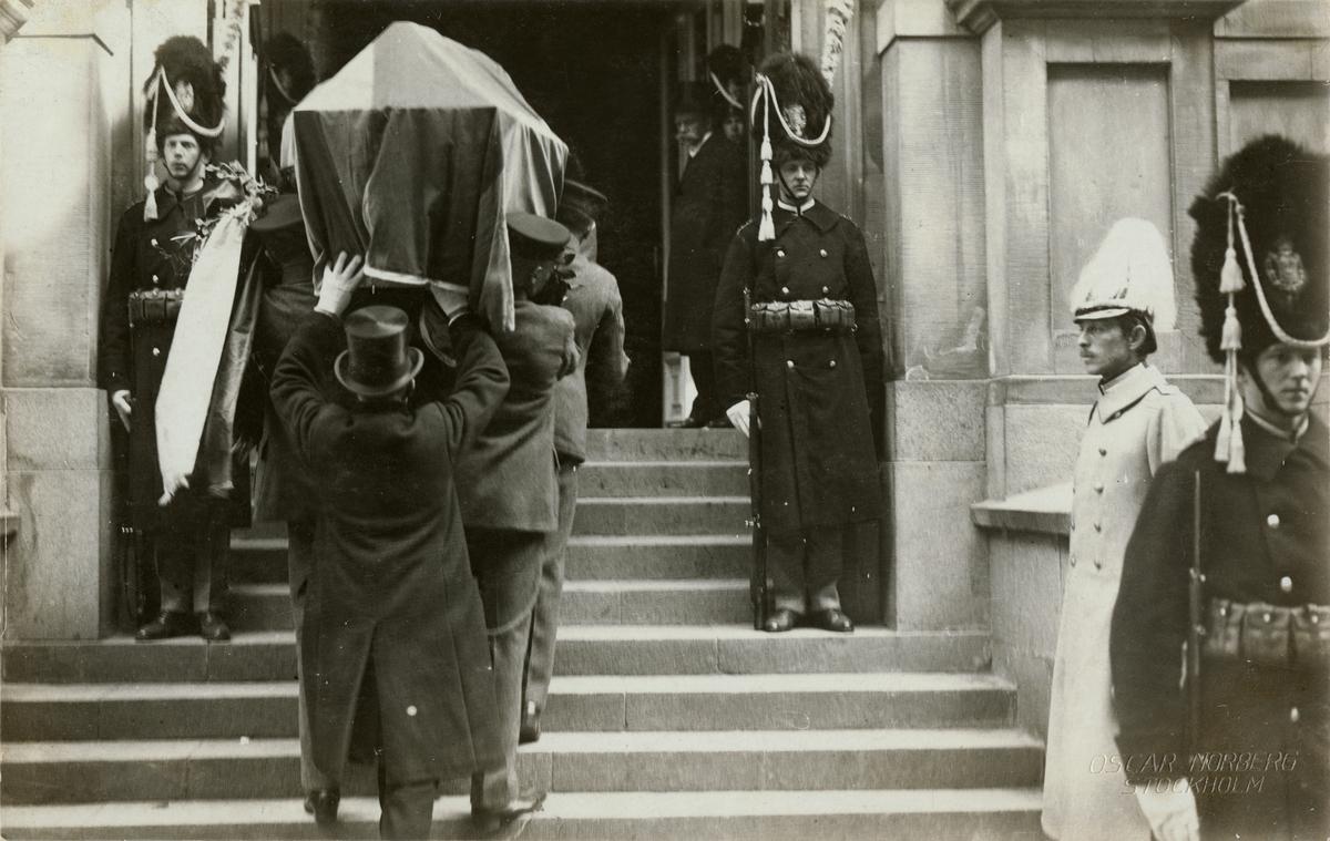 Begravningsprocession.