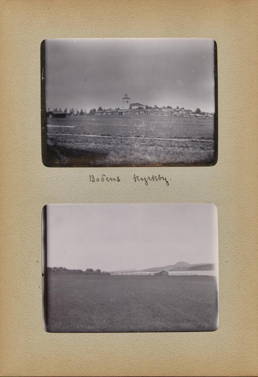 "Text i fotoalbum: ""Bodens kyrkby."""