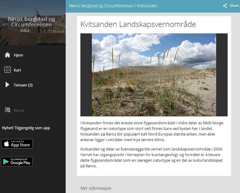 Natursti Kvitsanden Kulturpunkt. Foto/Photo