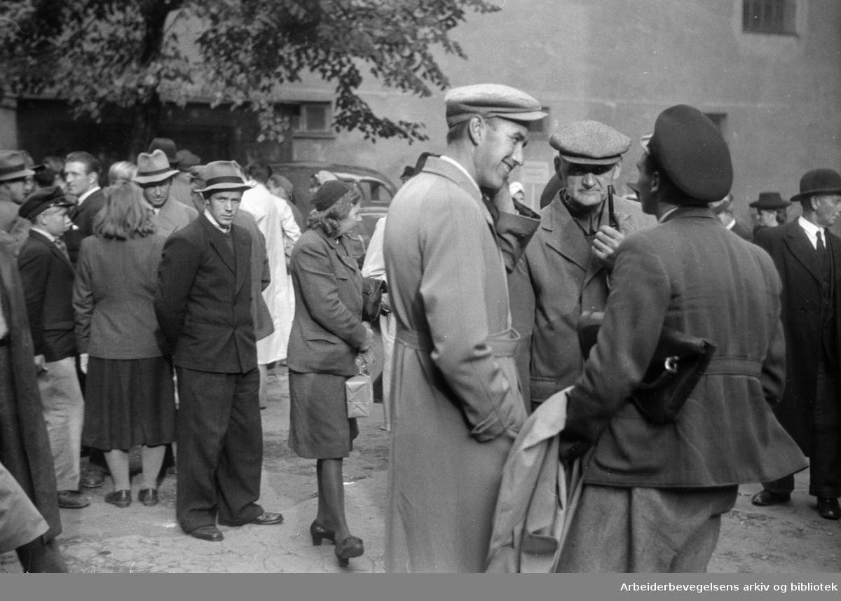 Oslo - Arbeidskontors landbruksavdeling. Oktober 1947