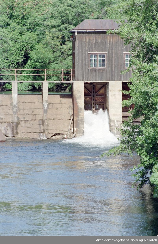 Akerselva ved Brekke. Juli 1993