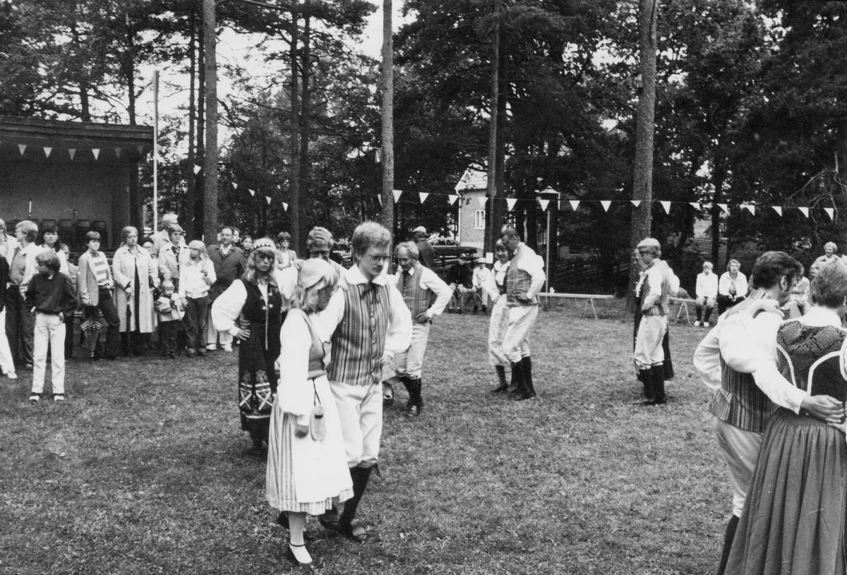 Fest vid Hembygdsgården i Horda, Värnamo kommun, den 14 juni 1981.