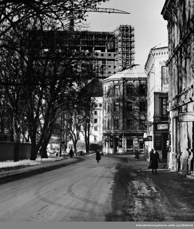 Åkebergveien. Januar 1961
