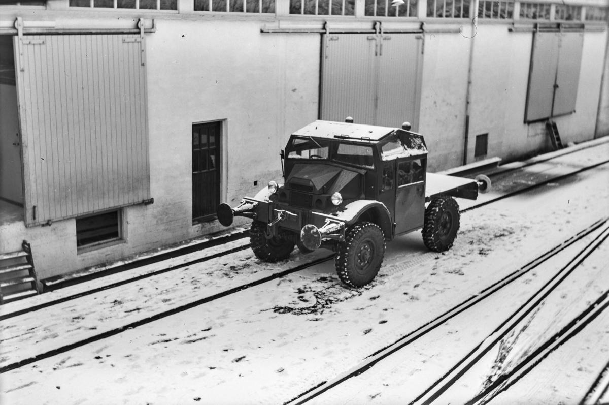 Skiftebil på Dale fabrikker.