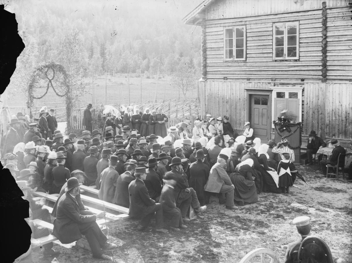 Bjørnstjerne Bjørnson taler på folkemøte i Gausdal