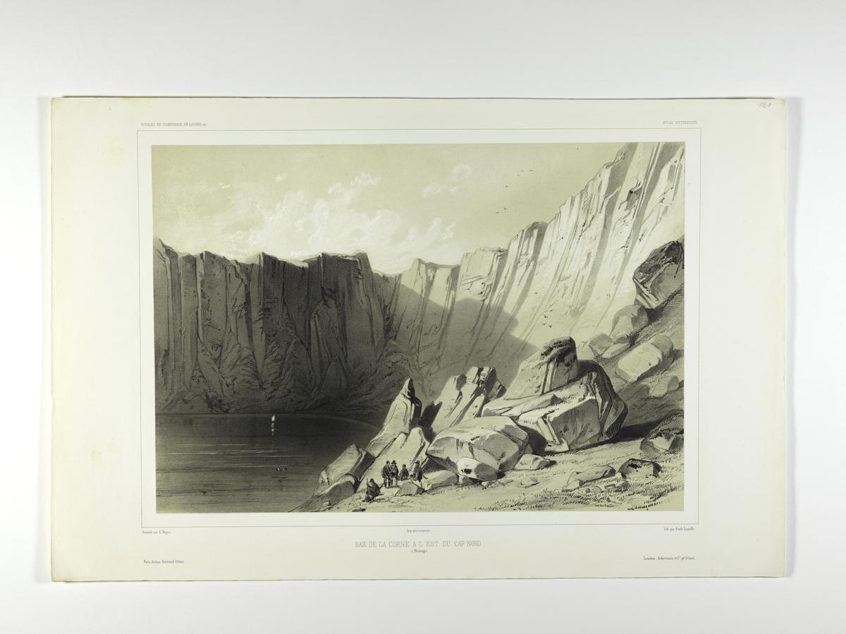 Havbukt på østsiden av Nordkapp.