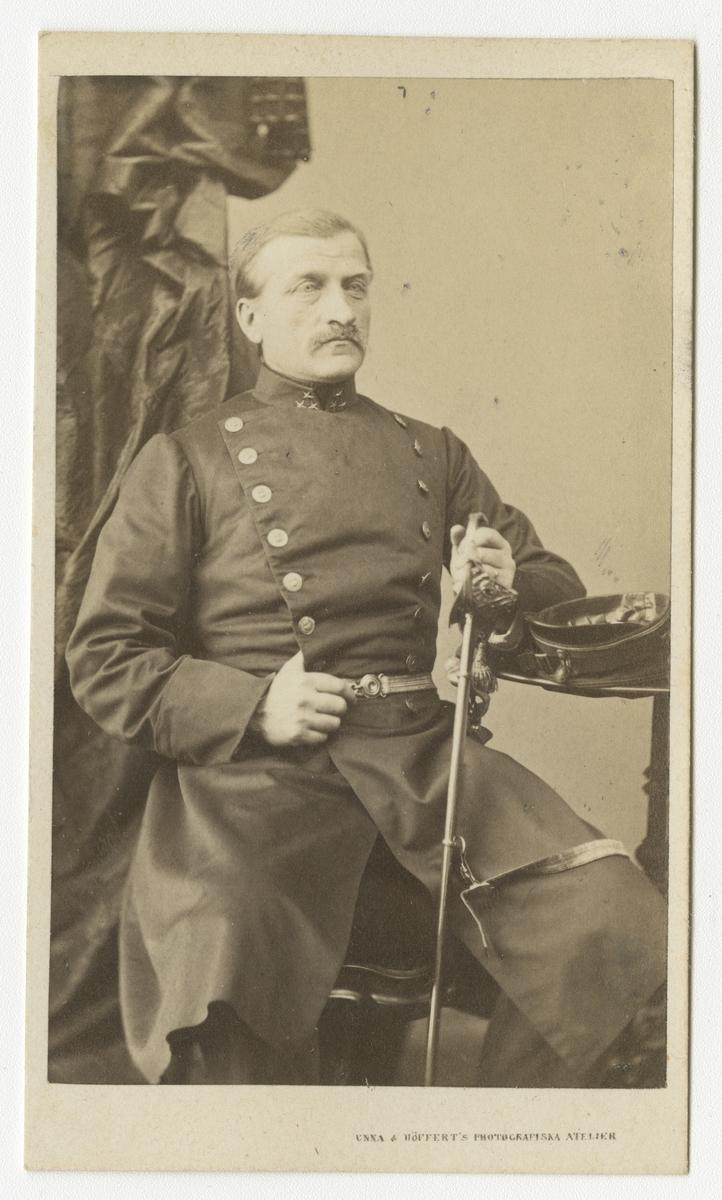 Porträtt av Carl Hofflander, kapten vid Västgöta regemente I 6.