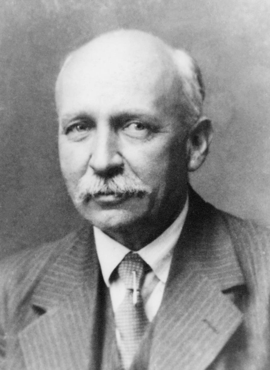 portrett, postmester, Ditlef Frantzen
