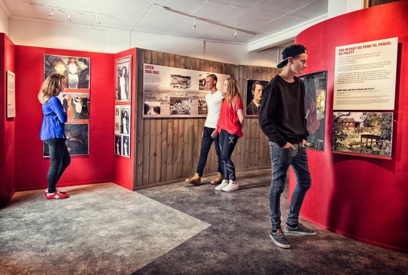 Munch-senteret inneholder informasjon om Munchs tilknytning til Løten og gir også muligheter for opplevelser. (Foto/Photo)