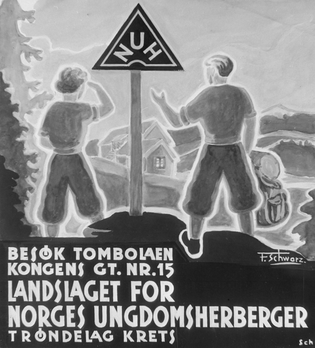 Diverse kopiplater fra inn- og utland for Landslaget for Norges Ungdomsherberger Trøndelag Krets (Kopi)
