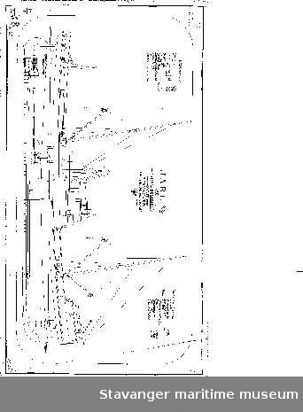 Profiltegning av D/S JARL, eid av Sigval Bergesen.