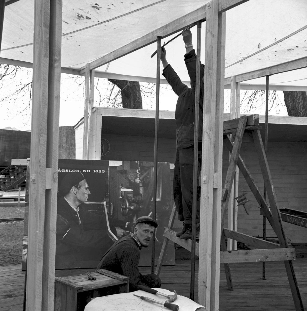 Mässa, Tåg 62. Firande av 100 år av västra stambanan 1862-1962. Göteborgs Modelljärnvägssällskaps lokaler, Järnvägsmännens gymnastik- och idrottshall