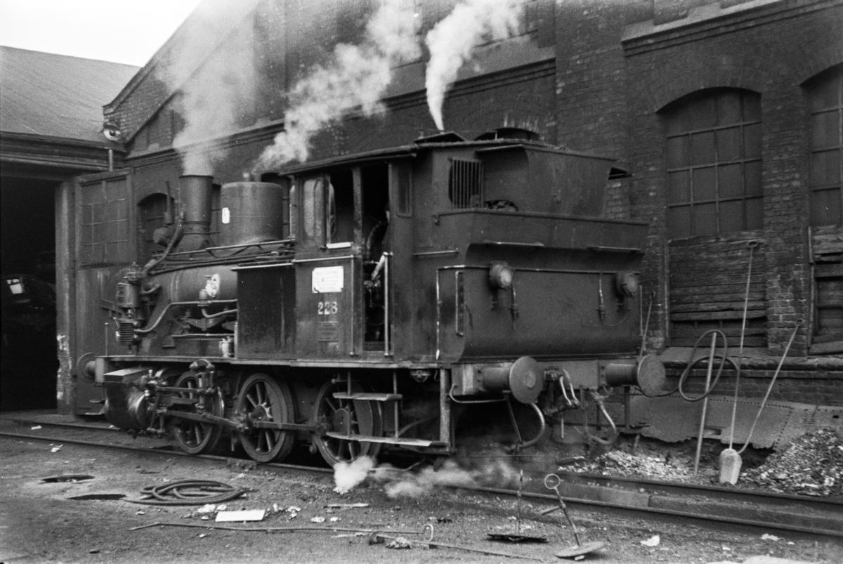Damplokomotiv type 25a nr. 228 ved Gamlestallen i Lodalen i Oslo.