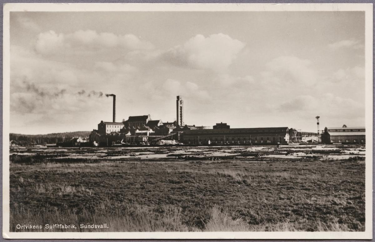 Ortvikens pappersbruk, sulfitfabriken.