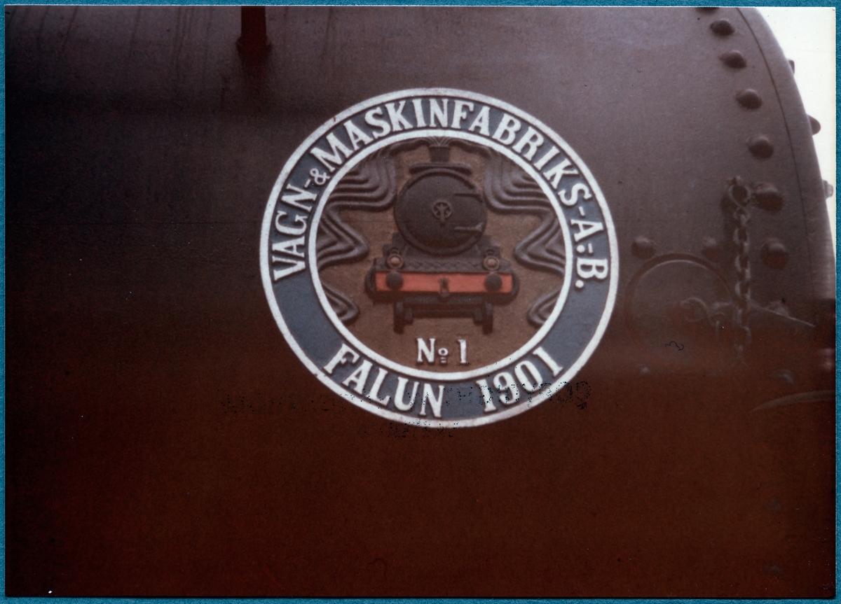 Statens Järnvägar, SJ Kd 692 tillverkarskylt.